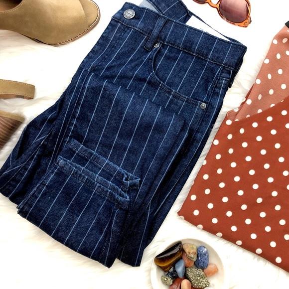 LOFT Denim - Dark Wash Pinstripe Skinny Jeans
